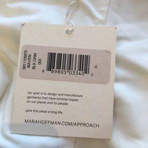 Mara Hoffman Swim - Mara Hoffman Maven one piece black / cream XL